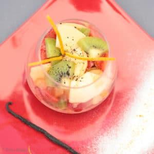 Salade de fruits vanille huile d'olive