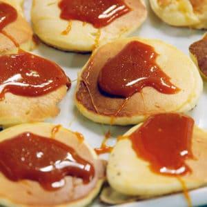 Pancake caramel huile olive salon blog culinaire