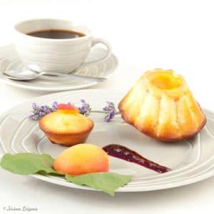 recette petits gâteaux au yaourt, huile d'olive et abricots