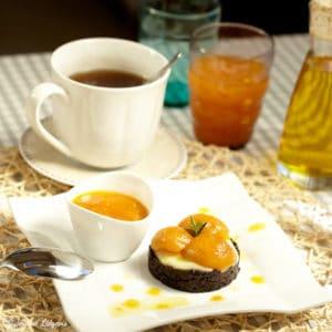 Recette gâteau chocolat réglisse abricot confit huile d'olive