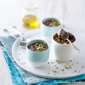 Recette mousse chocolat huile d'olive goût à l'ancienne Annelyse Chardon