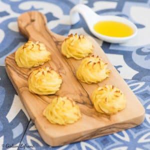 Pommes duchesse à l'huile d'olive