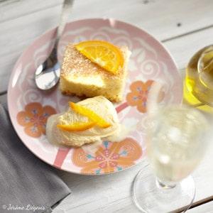Gateau à l'orange, amaretto et huile d'olive
