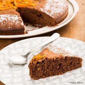 Gâteau orange chocolat huile d'olive