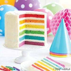 Rainbow cake à l'huile d'olive