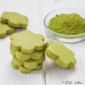 Biscuits au thé matcha et huile d'olive