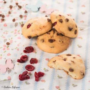 Cookies chocolat au lait, cranberries et huile d'olive