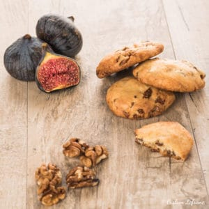 cookies huile d'olive figues noix
