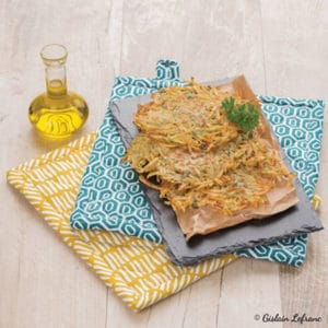 Paillassons de pommes de terre à l'huile d'olive