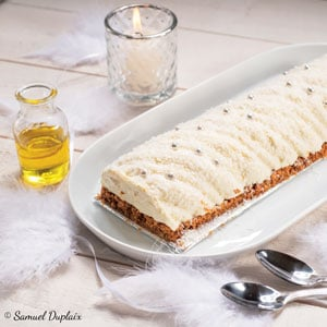 Cheesecake façon bûche aux deux citrons et à l'huile d'olive