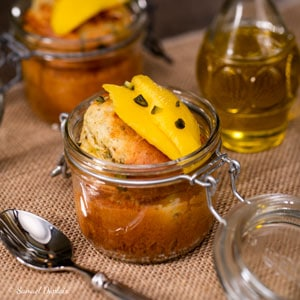 Gâteau mangue pistache huile d'olive