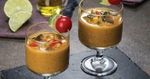 Gaspacho ratatouille à l'huile d'olive goût intense
