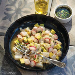 Ceviche de dorade à l'huile d'olive