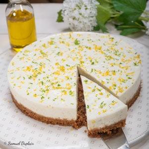 Cheesecake aux deux citrons, huile d'olive goût subtil