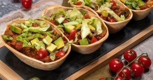 Tacos de boeuf aux olives et avocat