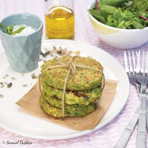 Galettes de légumes multi-graines à l'huile d'olive