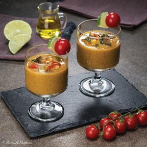Gaspacho ratatouille à l'huile d'olive