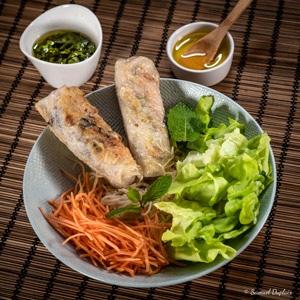 Nem végétarien au tofu et aux olives vertes de France