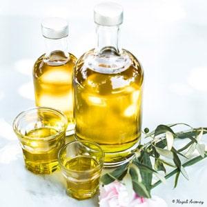 Bouteilles d'huile d'olive de France