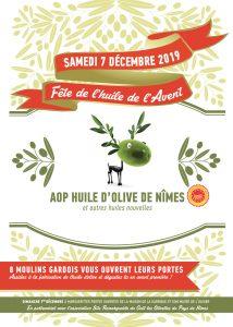 Affiche fête de l'huile de l'Avent