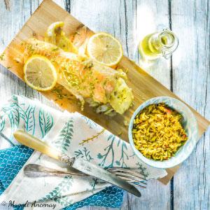 Recette poisson mariné notes ensoleillées huile d'olive goût subtil barbecue