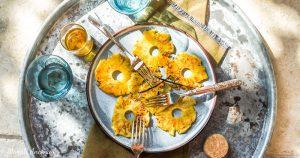 Recette ananas à la plancha huile d'olive goût subtil dessert barbecue facebook