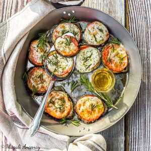 Recette aubergines provençale huile d'olive goût intense barbecue