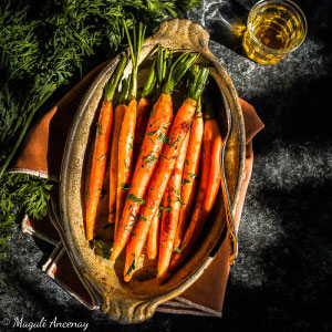 Recette carottes glaçées à l'orange huile d'olive goût subtil barbecue