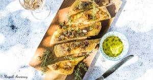 recette focaccia anchois oignons thym tarte huile olive gout intense pique nique dejeuner facebook