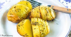 Recette pommes de terre scandinavo-méditérannéennes huile d'olive goût à l'ancienne barbecue facebook