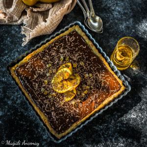 Recette tarte chocolat orange huile d'olive goût à l'ancienne dessert pique-nique déjeuner facebook