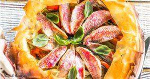recette tarte rougets aubergines oignons tomates d'huile olive goût intense pique-nique dejeuner facebook