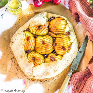 Rectete tarte rustique pommes huile d'olive goût subtil pique-nique déjeuner