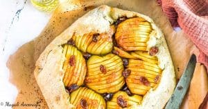 Recette tarte rustique pommes huile olive gout subtil pique-nique déjeuner