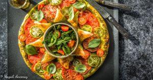 recette tarte soleil tomates pesto huile d'olive gout-intense pique-nique dejeuner facebook