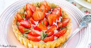 Recette tartelette aux fraises crème à l'huile d'olive - huile d'olive goût intense - dessert pique-nique