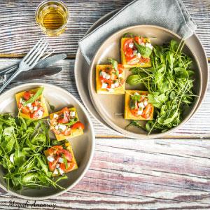 recette tartelettes panisse tomates basilic huile olive gout intense pique-nique dejeuner
