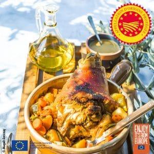Jarret de porc à l'huile d'olive