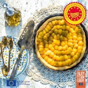 Tarte aux mirabelles à l'huile d'olive