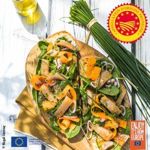 Tartine au hareng à l'huile d'olive