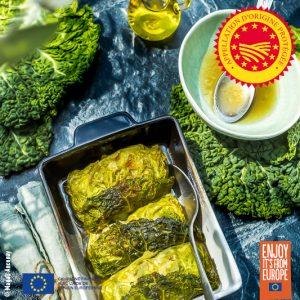 Roulades de chou à l'huile d'olive