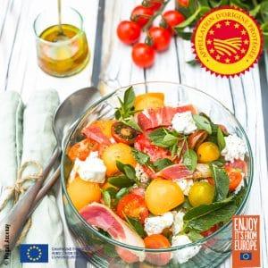 Salade fraîcheur à l'huile d'olive
