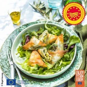 Samossas végétariens à l'huile d'olive