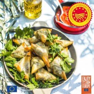 Samoussas au boeuf et à l'huile d'olive