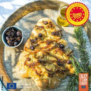 Sapin balls de noël à l'huile d'olive