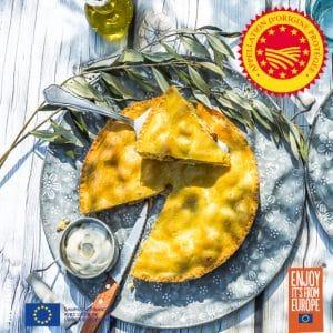 Tourte aux pommes à l'huile d'olive