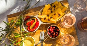 Galette de polenta à l'olive