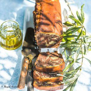Gâteau marbré à l'huile d'olive
