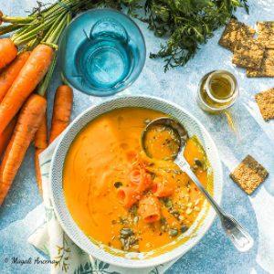Velouté de carottes patates douce