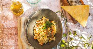 Risotto champignons parmesan